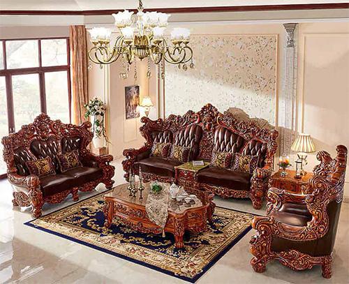 set sofa kursi tamu mewah modern jati